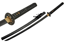 41.5″ HANDMADE BLACK BLADE SNAKE TSUBA SWORD