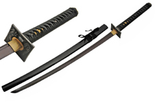 41.5″ HANDMADE BLACK BLADE DRAGON TSUBA SWORD