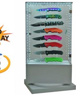16 PIECE LED ROTATING KNIFE DISPLAY