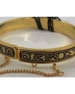 Damascene Gold Bird Bracelet by Midas of Toledo Spain style 805004