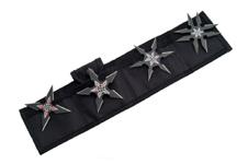 BLACK THROWING STAR SET
