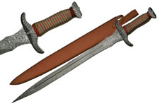 30″ NEEDLE TOOTH WIRED DAMASCUS SWORD