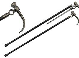 36.5″  HAMMER STYLE WALKING SWORD CANE