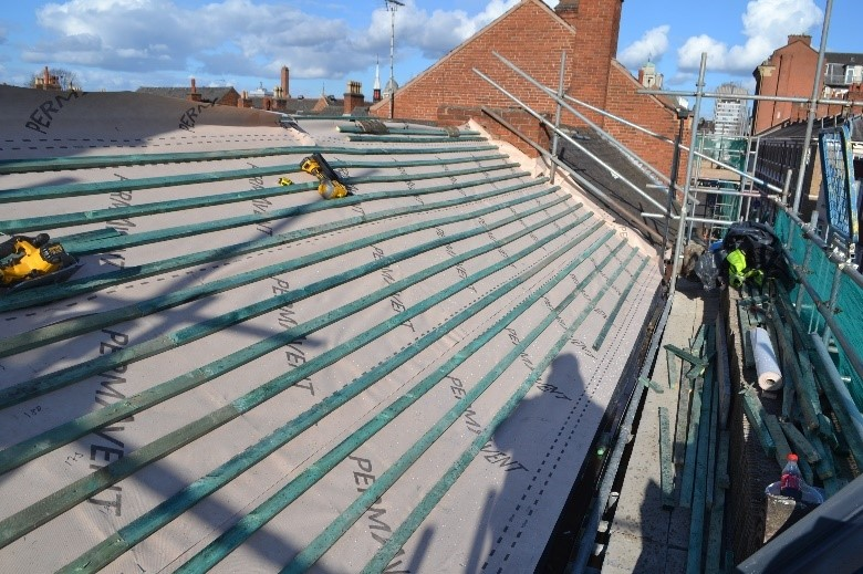 27.5-41 Friar Lane roof restoration work