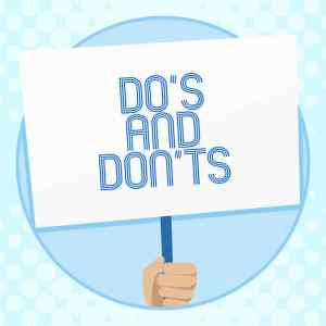 Do's and Don'ts Business Signs