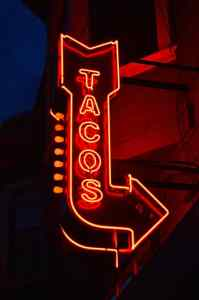 lighted signs Tacos business