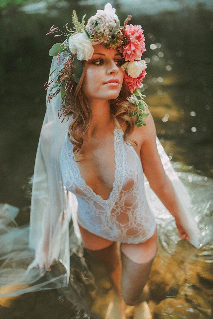 Romantic River Boudoir Shoot Best Wedding Blog