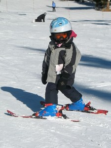 Julia skiing just shy of 5 years old