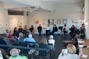 2014 Fresh Takes staged reading at No. Six Depot in West Stockbridge; photo by Enrico Spada