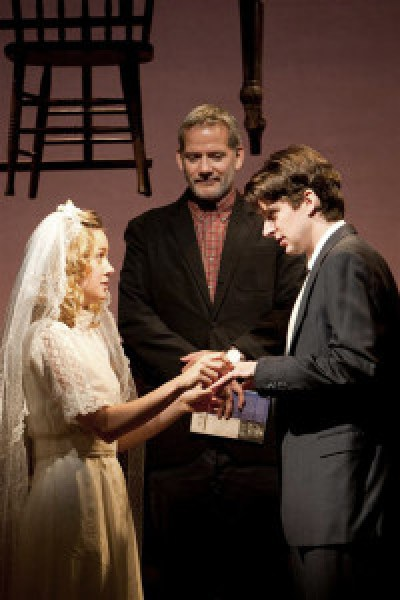 """Brie Larson, Campbell Scott, and Will Rogers in """"Our Town,"""" Willamstown Theatre Festival, 2010; by Thornton Wilder; directed by Nicholas Martin; photo by T. Charles Erickson"""