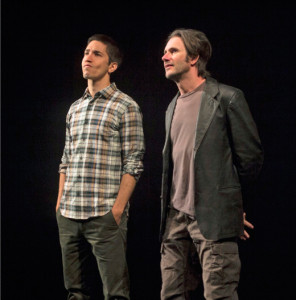 """Josh Hamilton & Justin Long in """"An Intervention"""" at the Williamstown Theatre Festival; photo by Paul Fox"""