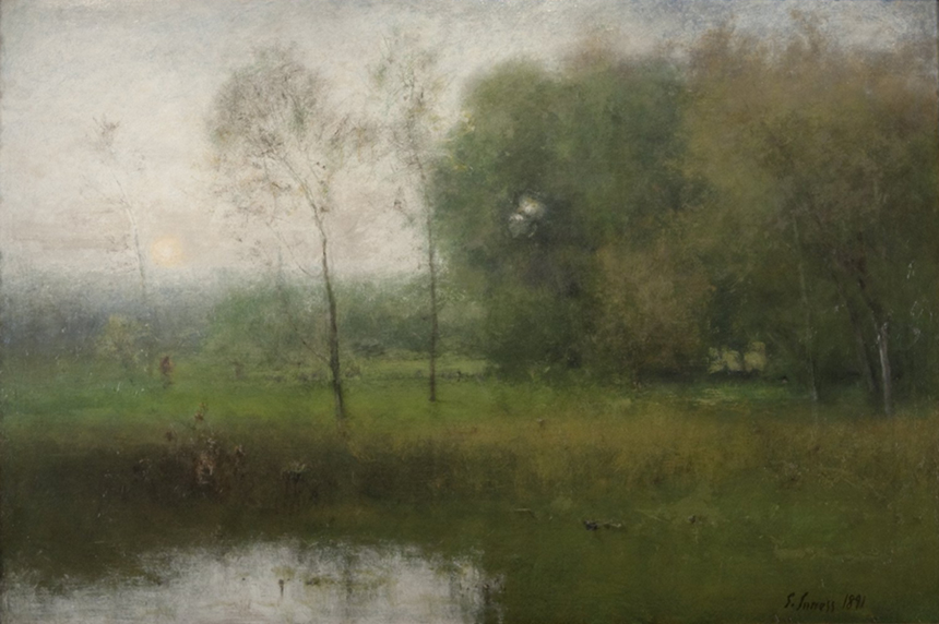 """New Jersey Landscape,"" George Inness, 1891, Oil on canvas; Gift of Frank and Katherine Martucci, 2013"