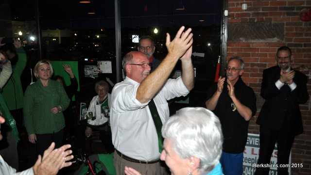 North Adams mayoral incumbent Richard Alcombright handily bested challenger John Barrett III on Tuesday night, winning his fourth term in office; photo courtesy iBerkshires.
