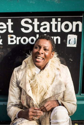 Helga Davis is not only a performer, but also a podcaster with 105.9 WXQR, New York Public Radio, where she hosts her own show, <em>Helga</em>; photo by Michal Hančovský.