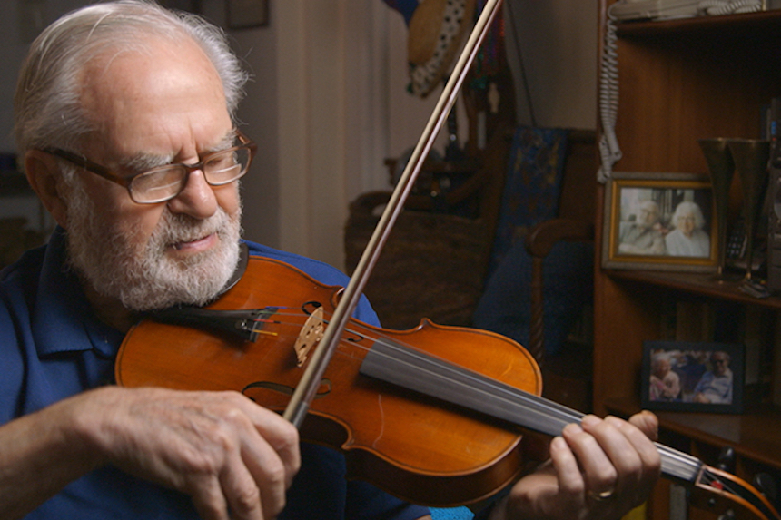 """""""Joe's Violin,"""" directed by Kahane Cooperman and Raphaela Neihausen, with music composed by Gary Meister, earned a 2017 Academy Award nomination for Best Documentary Short Subject, will be screened by the Berkshire International Film Festival along with nine other shorts during the 10X10 Upstreet Arts Festival at the Beacon Cinema on February, 19th."""