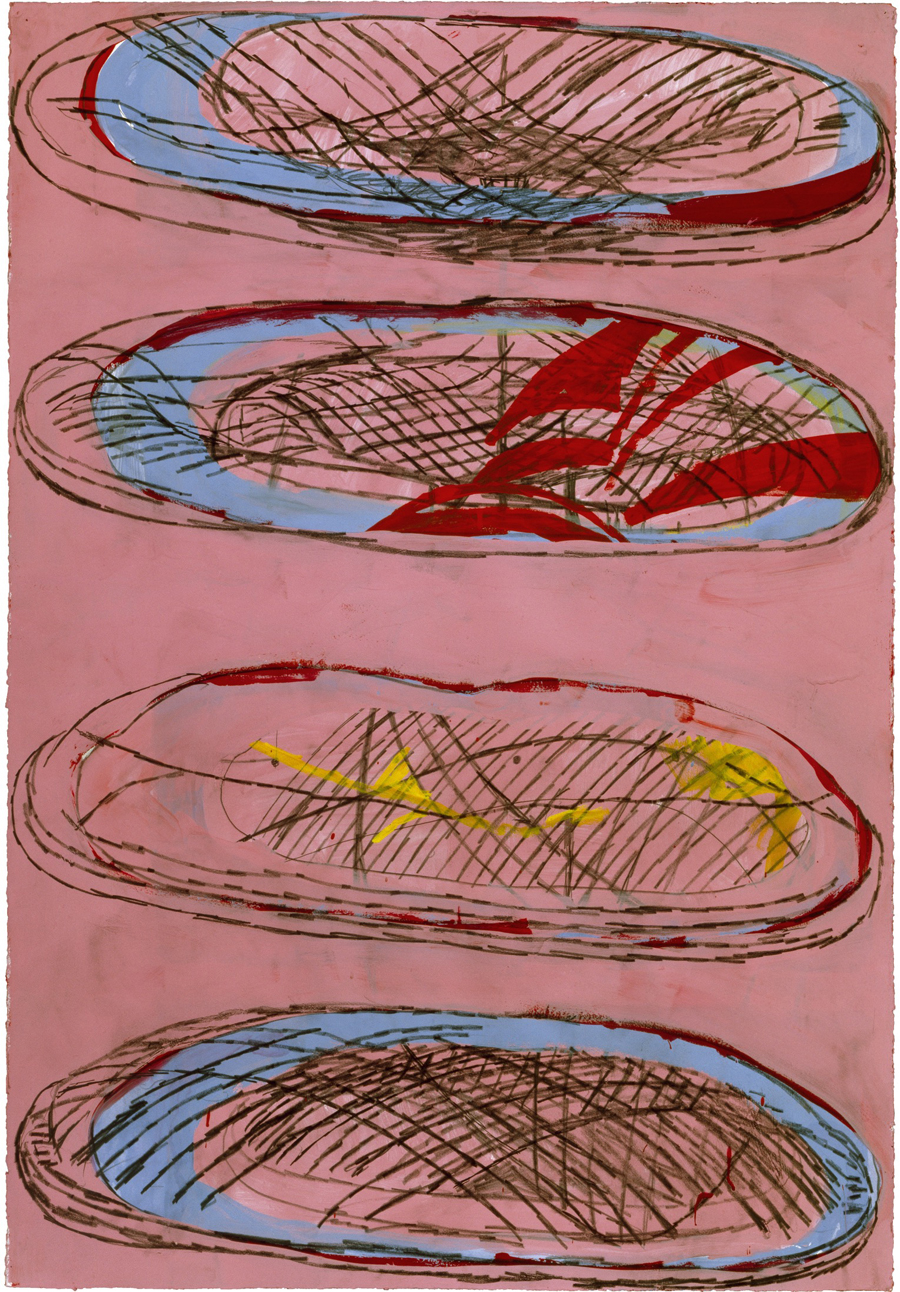 Terry Winters, Untitled (2), 1999; gouache on paper, 44 1/4 X 30 1/2 inches; private collection [Source: Matthew Marks Gallery]
