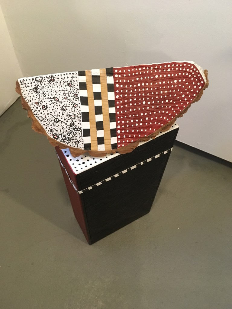Sculpture by Elisa Pritzker, Honors ceremonies from extinct people, Selkam, from Patagonia,  Be Mine, LABspace, Hillsdale, New York