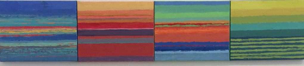Sarah Sutro, Landscape Composite #5, 2015. Acrylic on Canvas.