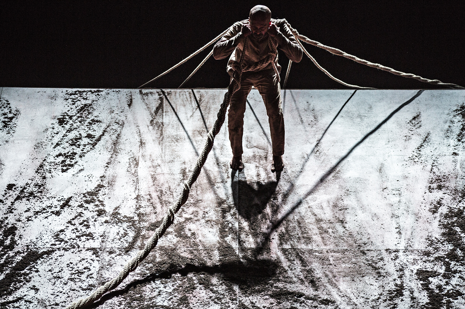 Akram Khan in Xenos, photo by Jean Louis Fernandez, courtesy of Jacob's Pillow.