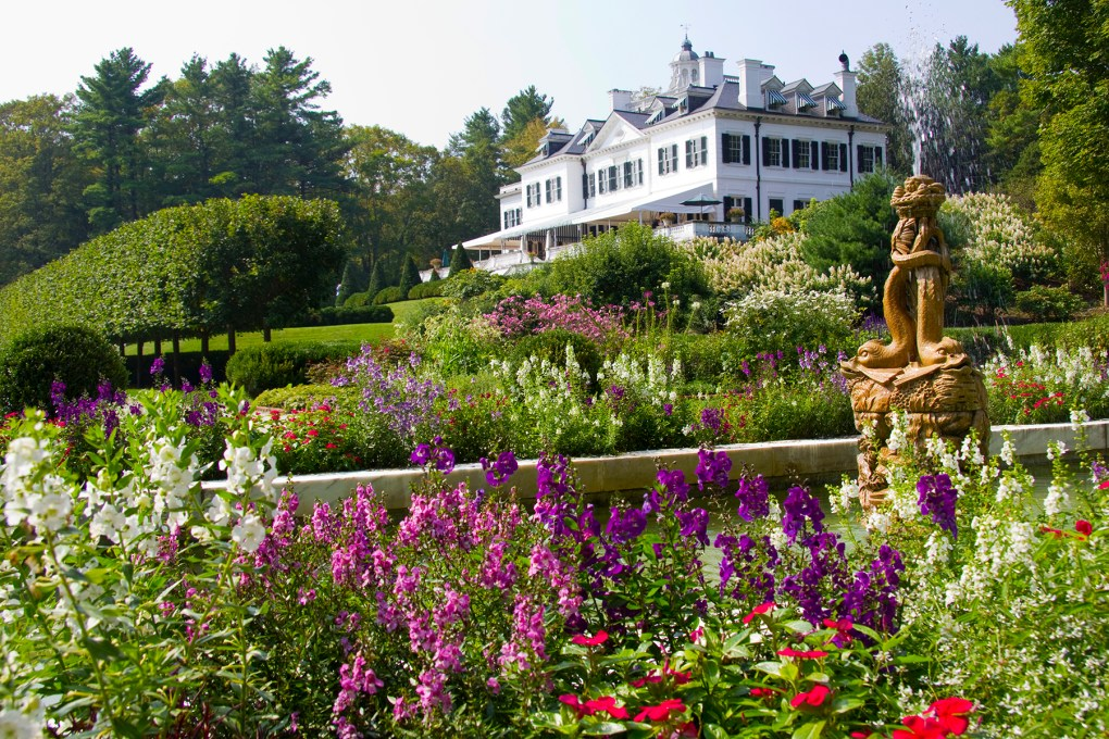 The home as viewed from the edge of the formal flower garden. Photo by Dani Fine.