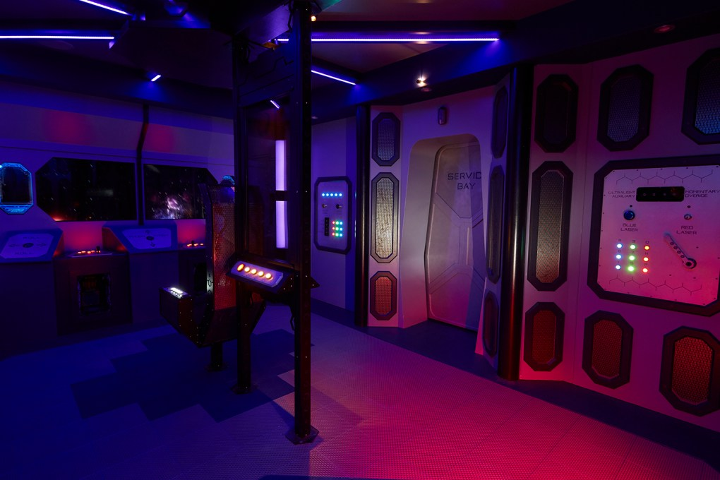 Photo of the inside of the adventure game, Deep Space; The local observatory might be a great place to learn about the heavens, but probably won't deliver the pulse-quickening drama of a catastrophe at the edges of the galaxy ; photo courtesy 5 Wits.