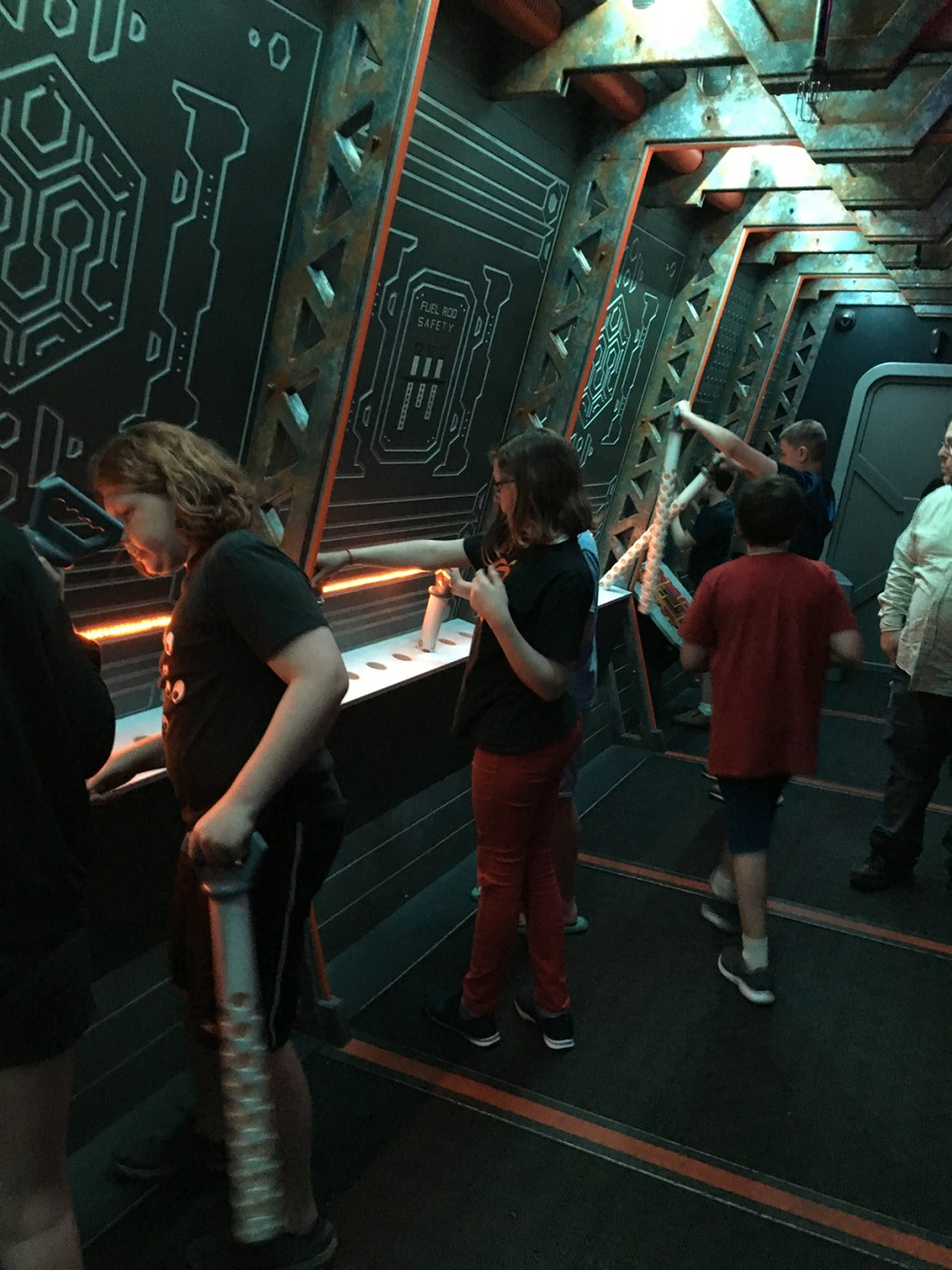 Photo: Birthday party-goers race the clock (and the frozen void of space) to complete an intricate series of tasks in order to stop a terrifying shipboard disaster; photo by Regina Velazquez.