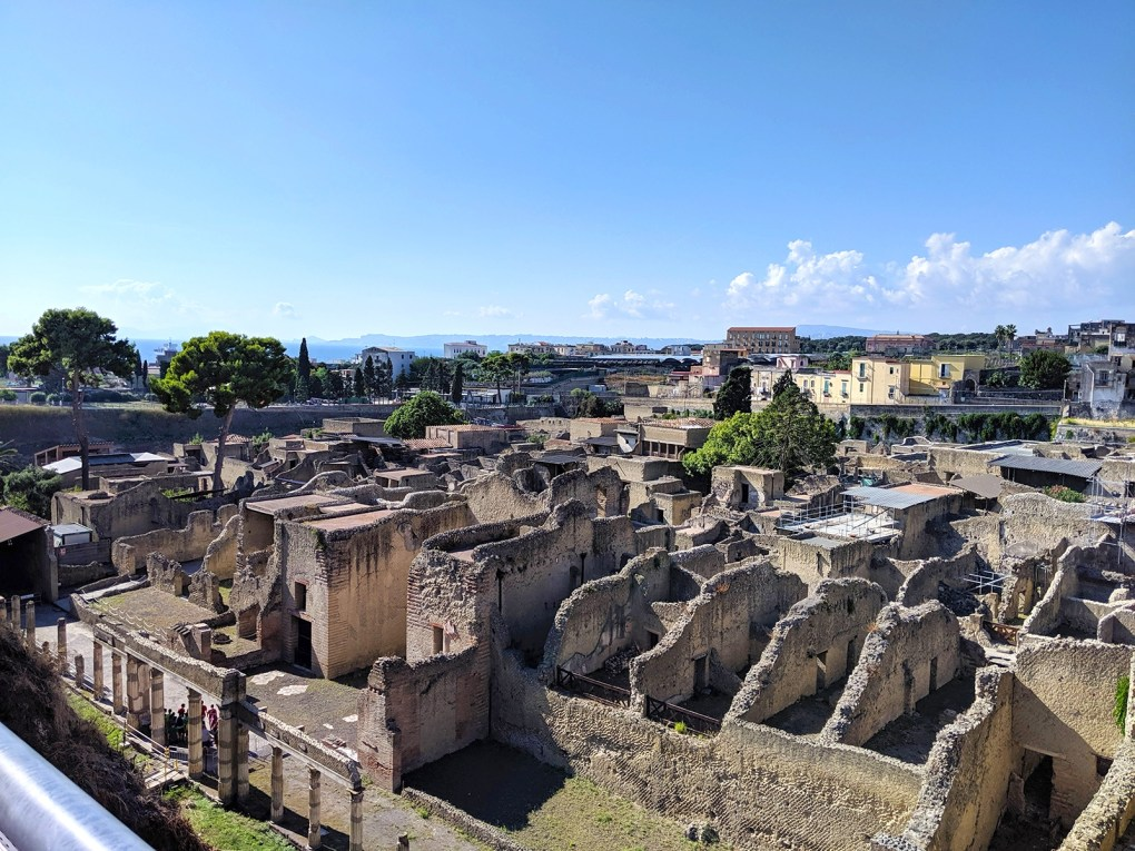 While only about a third of the size of Pompeii, Herculaneum is in a much better state of preservation, thanks to a 70-foot layer of ash, which sheltered the site from the Mediterranean sun and weather.