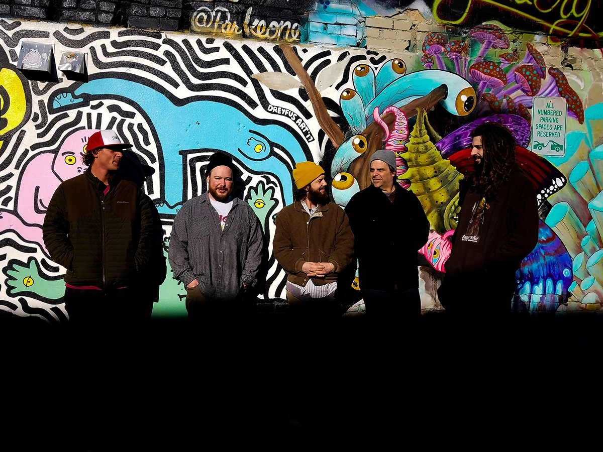 Mother Yeti members Zack Degler, Bill Tracy, Joseph Hein, Jim Rizzuto, and Zachary Calkins.; photo by Mary Stewart.
