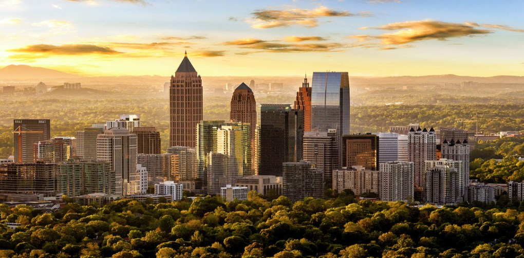 "Known as a ""city in a forest,"" Atlanta boasts a canopy of trees that, in part, prompted National Geographic to designate the city as a ""Place of a Lifetime;"" photo by Gene Phillips, Courtesy of ACVB & AtlantaPhotos.com."