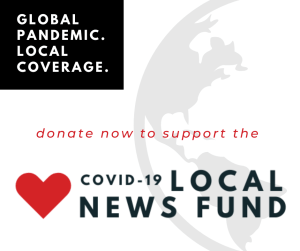 Display Graphic linking to the Greylock Glass COVID-19 Local News Fund page.