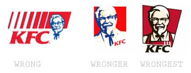 KFC branding scaled by wrongness
