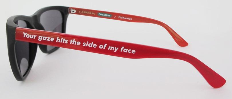 Barbara Kruger LA Rays Sunglasses by Freeway Eyewear and ForYourArt