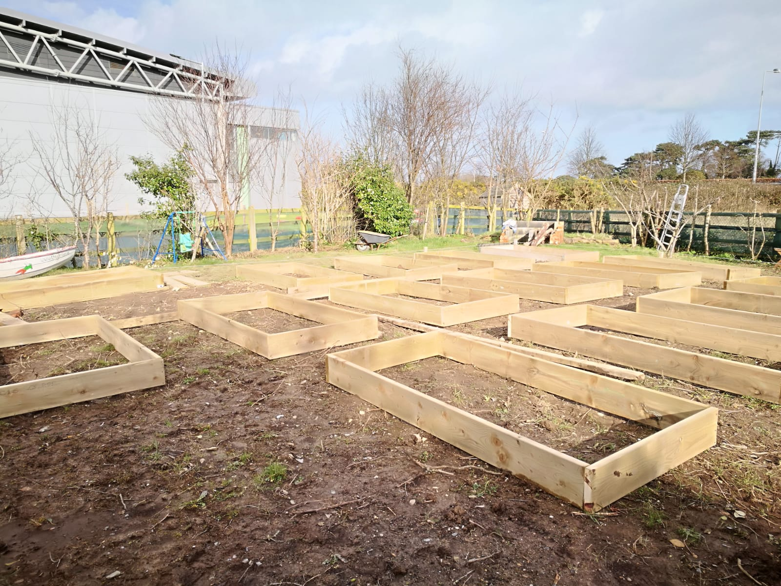Raised bed boxes