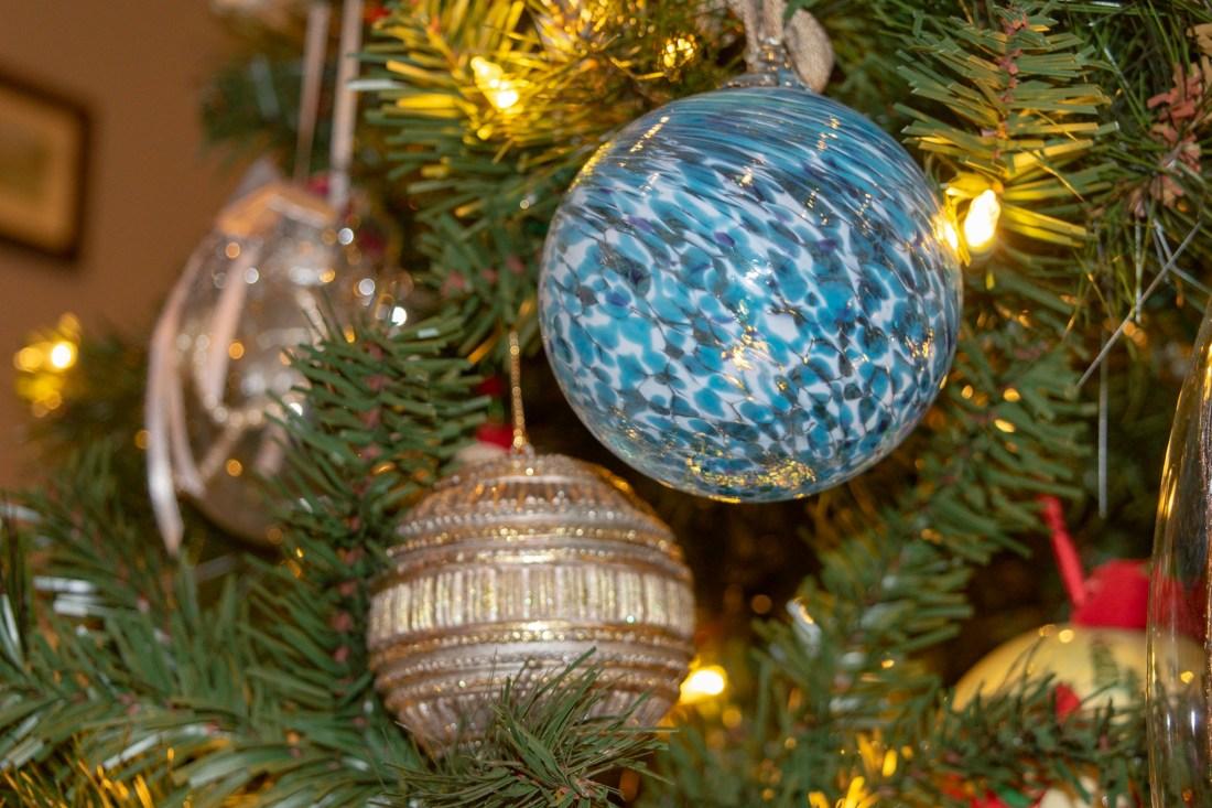 Blue Glass Blown Ornament