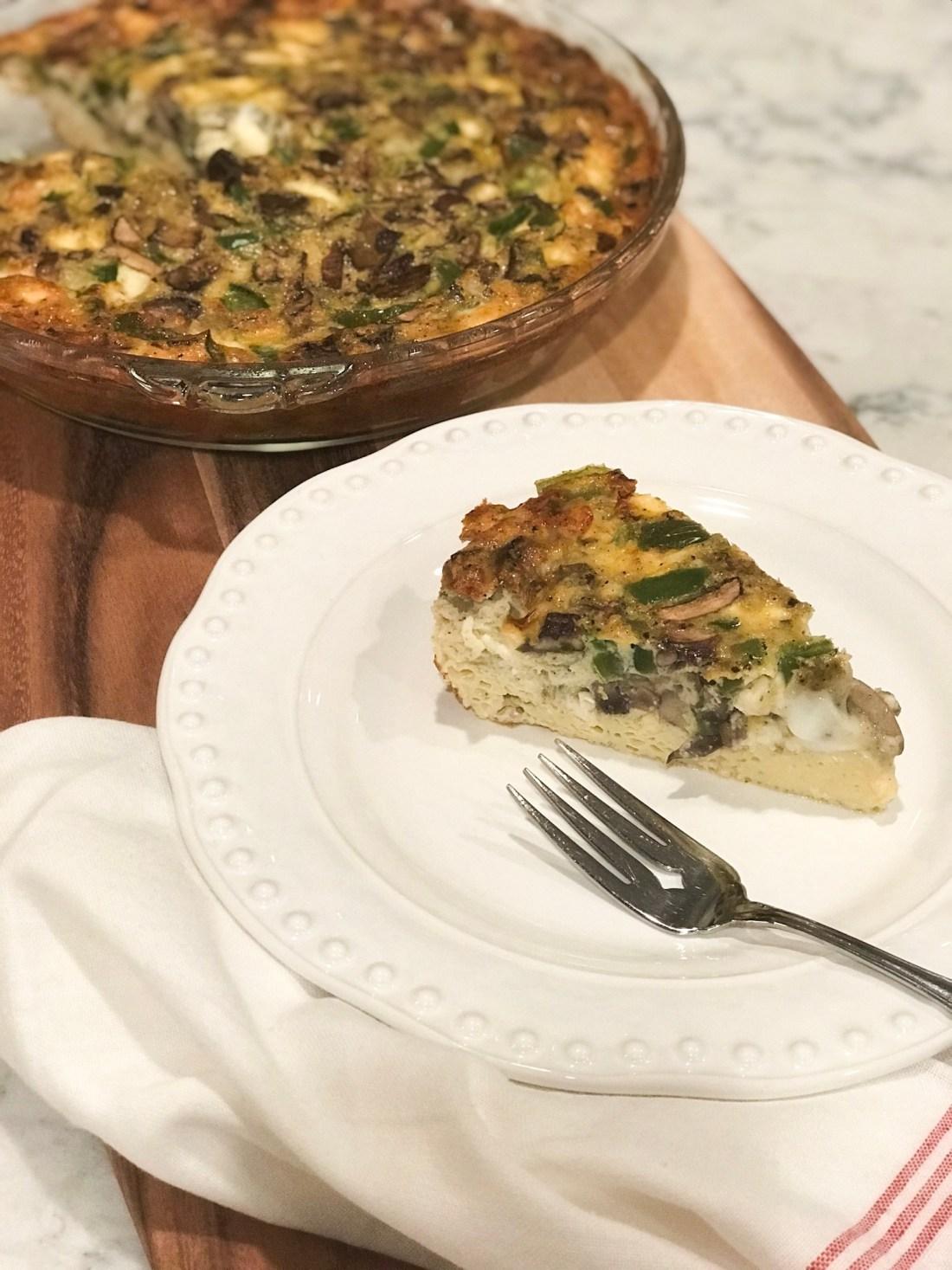 Mushroom, Feta & Green Pepper Frittata