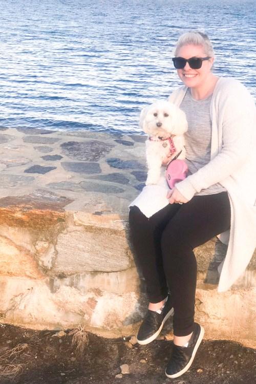 Eva & I at the beach