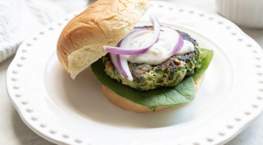 Spinach & Feta Chicken Burgers