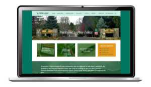 pine lakes website design