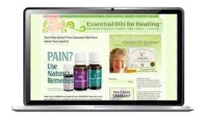 website design for essential oils practitioner