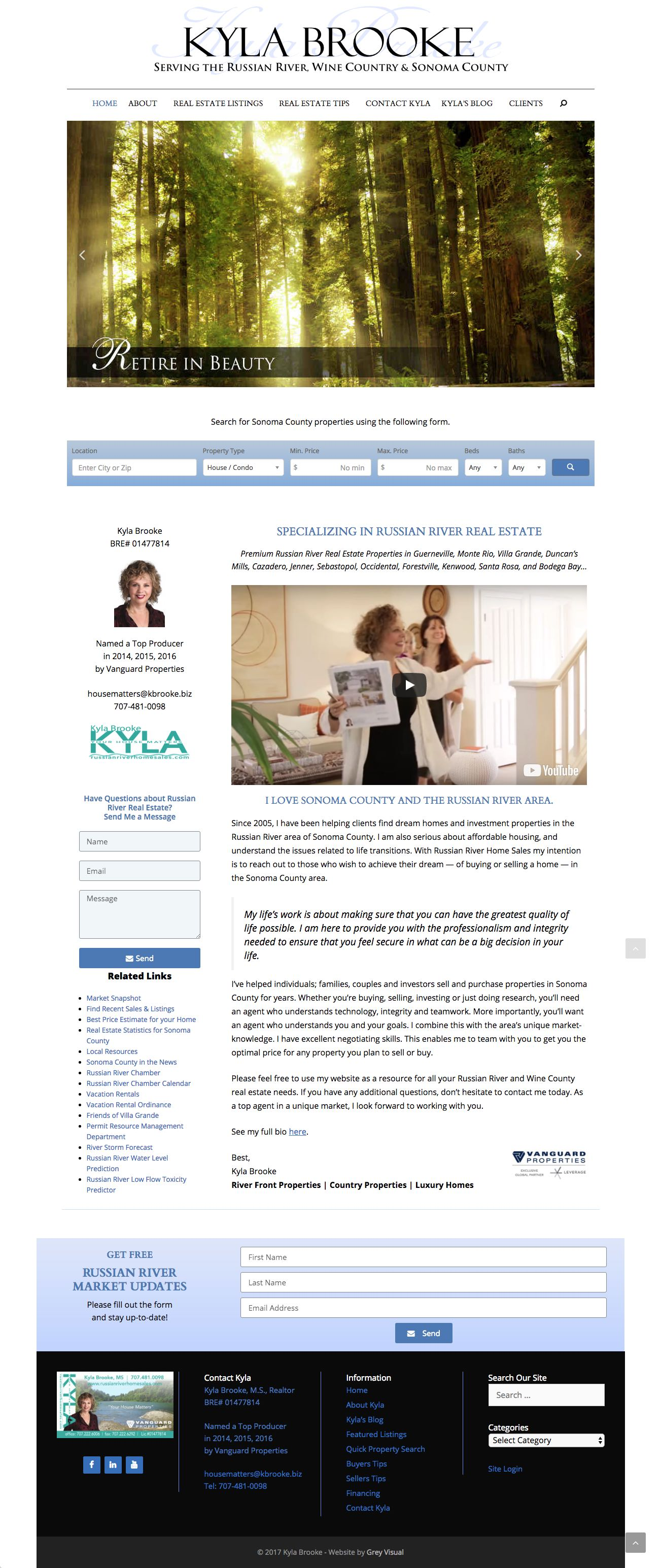 real estate web design for Kyla Brooke