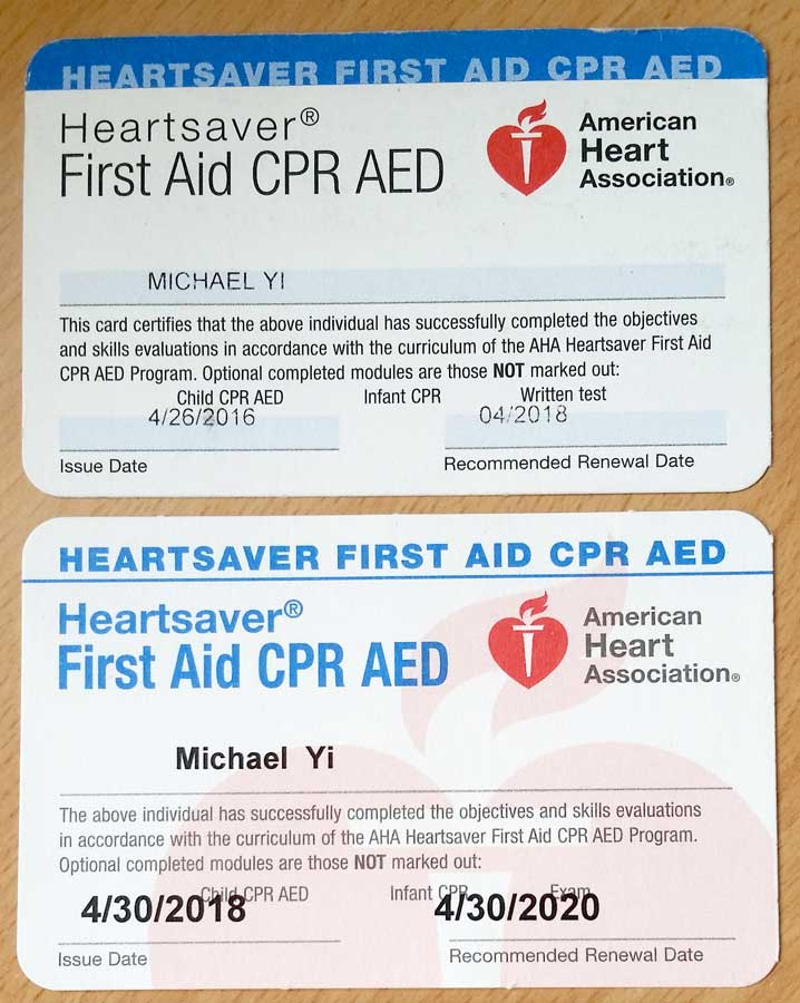 AHA - First Aid / CPR / AED Re-Certification - Grey Wolf Brazilian ...