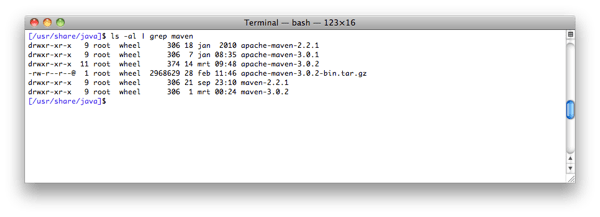 Upgrade maven and switch between versions using bash on