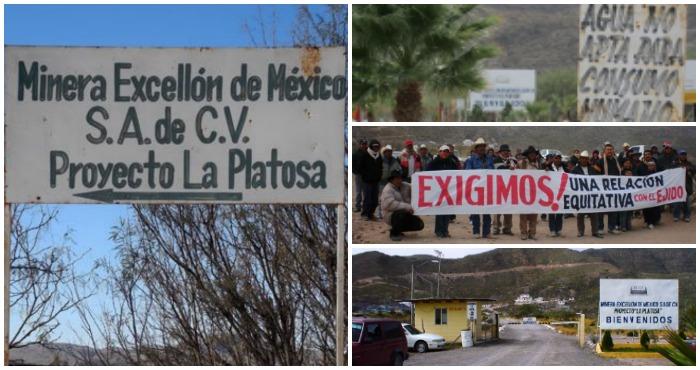 La minera Excellon violó el contrato con los ejidatarios de la Sierrita de Galeana al explorar más tierras de lo acordado. Foto: ProDESC y United Steelworkers
