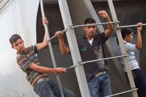 Migrantes en Tenosique, Tabasco. Foto: Prometeo Lucero