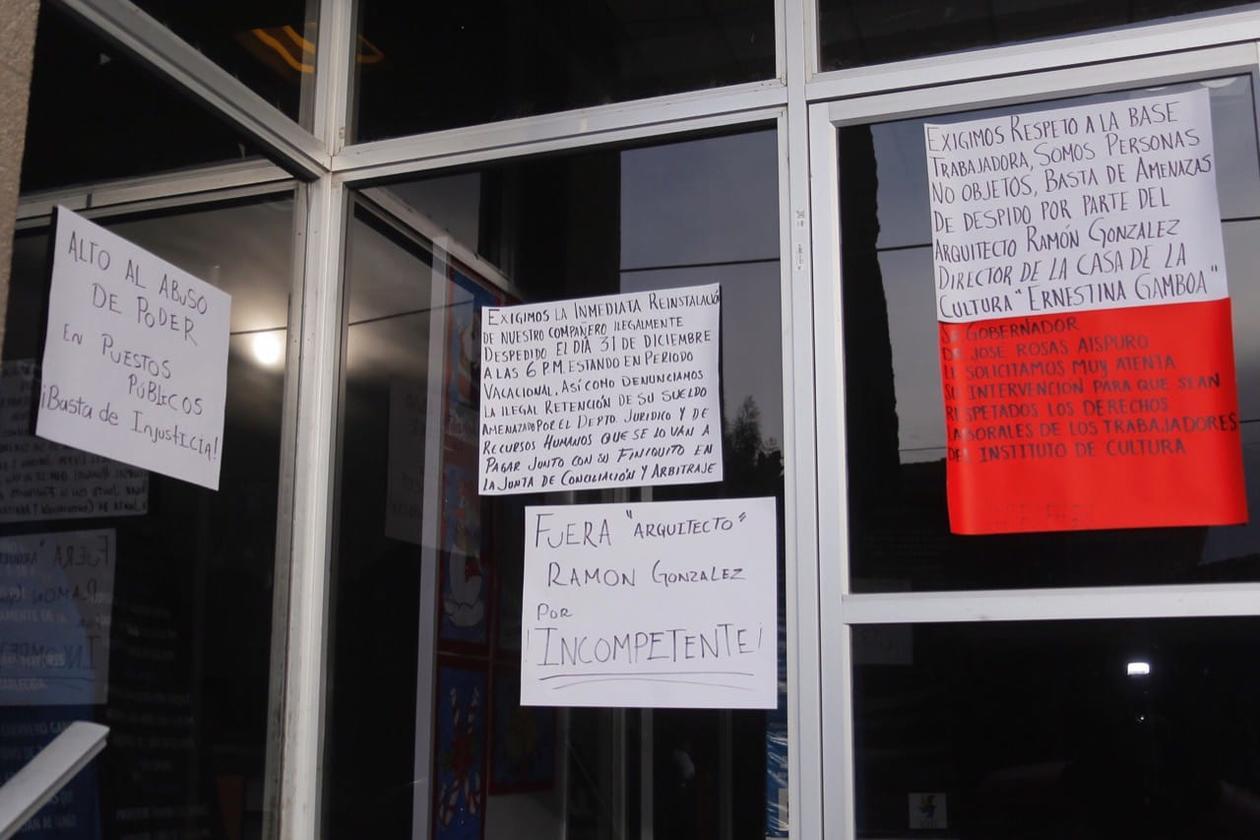 Trabajadores de la Casa de Cultura Ernestina Gamboa, denuncian despidos injustificados (Durango)