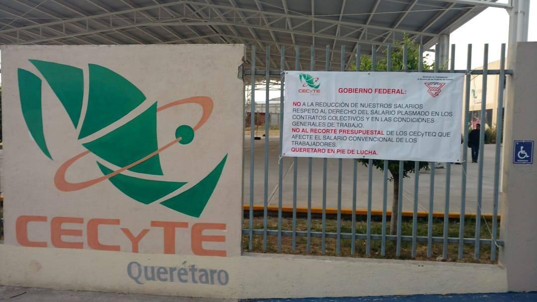 Paro general de labores en los CECyTES, incluyendo Querétaro por recorte de Presupuesto General