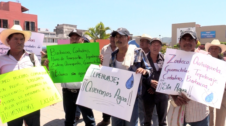 Huajicori necesita agua: Manifestantes (Nayarti)