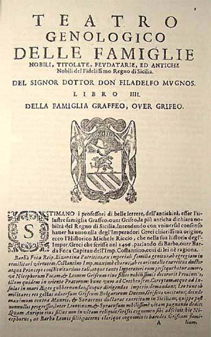 Bibliografia Grifeo alcune fonti bibliografiche