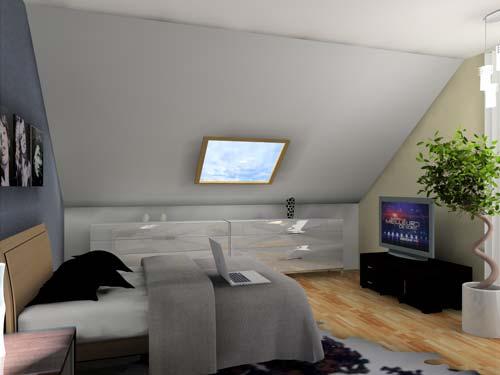 3D chambre sous comble