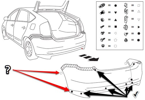 Service manual [2005 Toyota Prius Front Bumper Removal